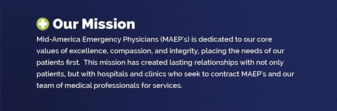 Banner graphic for the Where We Serve page for Mid America Emergency Physicians
